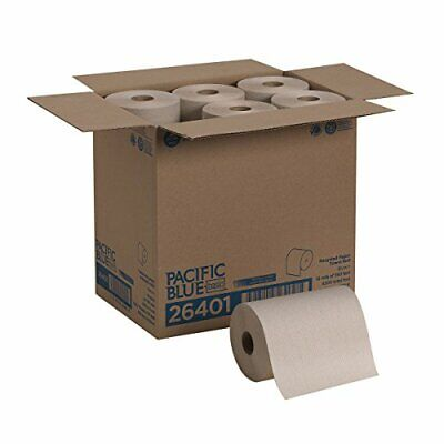 Pacific Blue Basic Recycled Paper Towel Roll 350 Feet Per Roll 12 Rolls Per Case