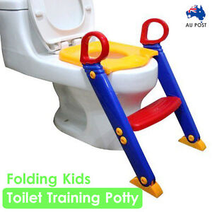 Kids Toilet Training Potty Ladder Baby Toddler Toilet Step Seat Non Slip Trainer
