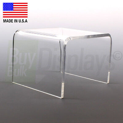 "Acrylic Display Riser 4"" x 4"" x 4"" - Made In The USA"