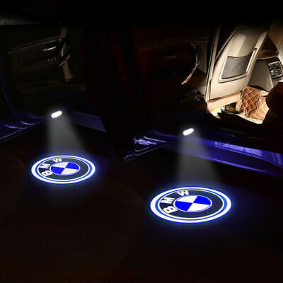 4 pcs Car Door Welcome Lights Courtesy LED Projector Ghost Shadow Light For BMW