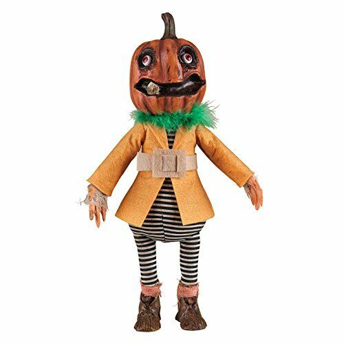 Pumpkin Head Doll SYLVESTER, Gallerie II Fabric/Resin Handcrafted Hand Painted