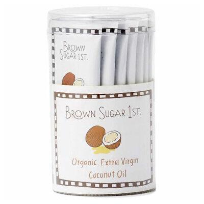 Brown Sugar 1st Organic Extra Virgin Coconut Oil 16 Single Serving Sticks