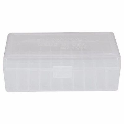 BERRY'S PLASTIC AMMO BOXES (5) CLEAR 50 ROUND (44SPL,44MAG,45 COLT,41MAG,44-40) - Berry Boxes