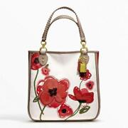 Coach Poppy Placed Flower Large Tote