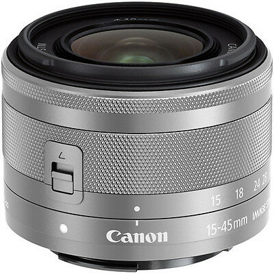 New Canon EF-M 15-45mm f/3.5-6.3 IS STM SILVER Lens