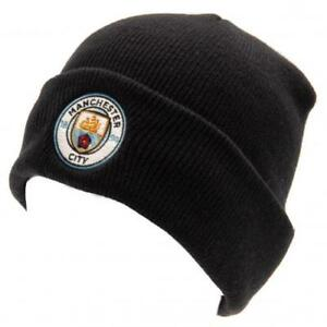 a4d144be0b5 Manchester City Man Fc Knitted Beanie Hat Turn Up Adult One Size