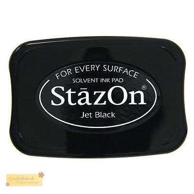 StazOn Stempelkissen Jet Black,wasserfest,Stempelfarbe,ink pad,schwarz,Stempel
