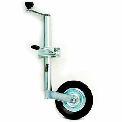 48MM HEAVY DUTY TELESCOPIC TRAILER CARAVAN JOCKEY WHEEL WITH CLAMP HANDLES 150KG