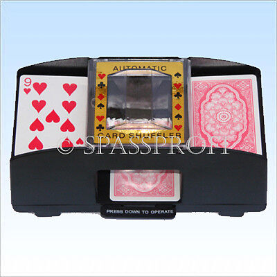 Spielkartenmischgerät automatisch Pokerkarten Kartenmischer Karten mischen