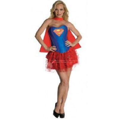 Womens Corseted Tutu SuperGirl Costume All Adult Sizes Superman - Superman Kostüm Tutu