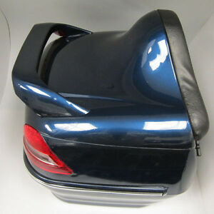 new motorcycle scooter tail box luggage bag back trunk top case blue ebay. Black Bedroom Furniture Sets. Home Design Ideas