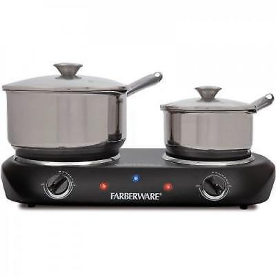 Hot Plate Double Burner Farberware Commercial Electric Portable Countertop Stove
