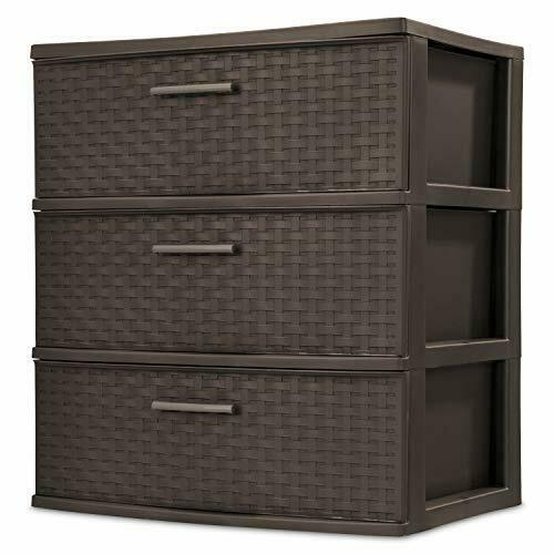 3 Drawer Wide Organizer Cart Plastic Storage Office