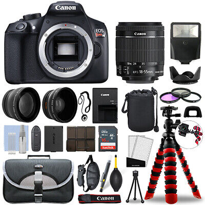 Canon Rebel T6 DSLR Camera with 18-55mm IS + 16GB 3 Lens Ultimate Accessory Kit