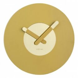 Boyle NeXtime Modern Indoor Stylish Wall Clock In Touch - Gold