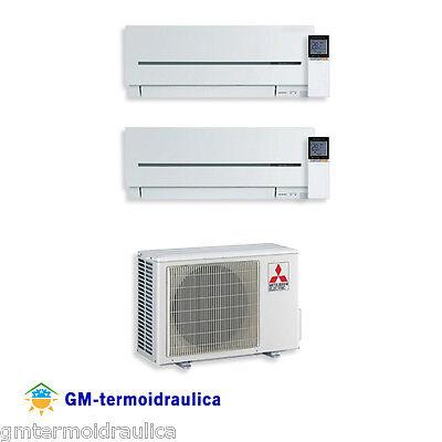 Climatizzatore Condizionatore Inverter Dual Split Mitsubishi SF 9+12 Btu 2D42VA usato  Acquaformosa