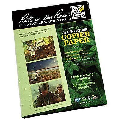 Waterproof Paper Rite In The Rain Ritr All Weather Writing Paper Green