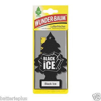 3X Original WUNDERBAUM® Black Ice Lufterfrischer Duftbäumchen Autoduft