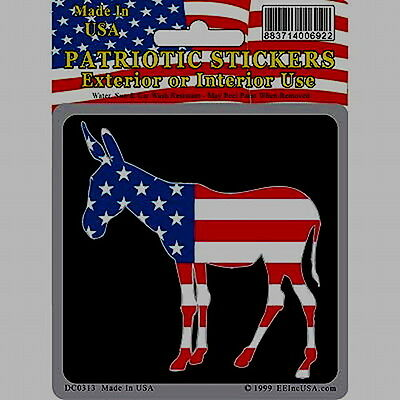 Democrat Party Donkey/Jackass Decal/Sticker MADE IN THE USA!