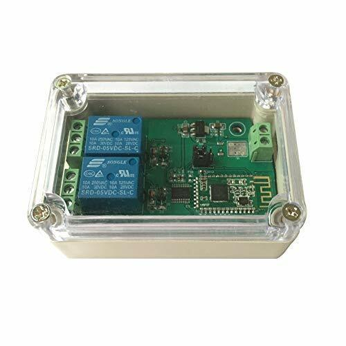 DSD TECH 2-Channel Bluetooth 4.0 BLE Relay Module for iPhone and Android(12V)