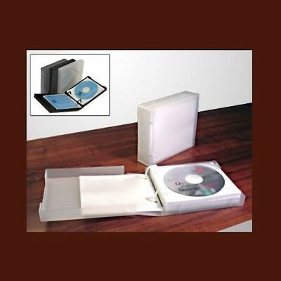 UniKeep CD/DVD 20 Disc Storage Wallet White w/20 pages