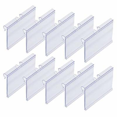 50 Pcs Clear Plastic Label Holders For Wire Shelf Retail Price Label
