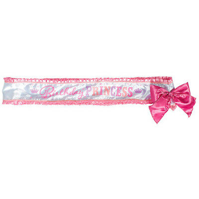 BIRTHDAY PRINCESS DELUXE SASH ~ Party Supplies Favor Accessory Fabric Pink Girly