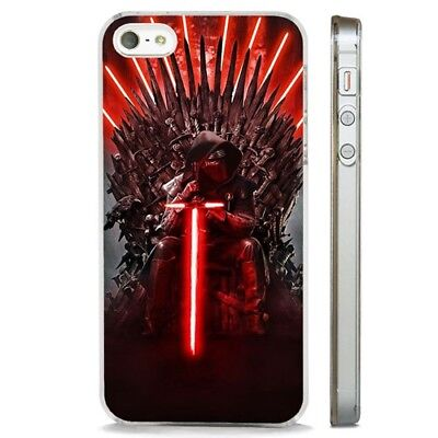 Star Wars Kylo Ren Thrones CLEAR PHONE CASE COVER fits iPHONE 5 6 7 8 X
