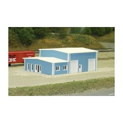 """N SCALE: """"CONTRACTOR'S BUILDING"""" Kit #541-8006 by Pikestuff"""