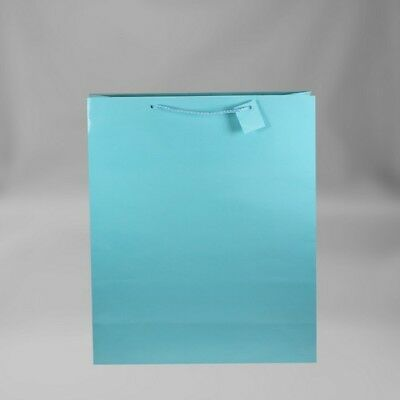 12 PC. Solid Color Gift Bags Light Blue Medium](Colored Gift Bags)