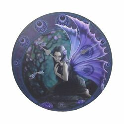 Dragonfly Naiad Fairy 13.5 Wall Clock Round By Anne Stokes