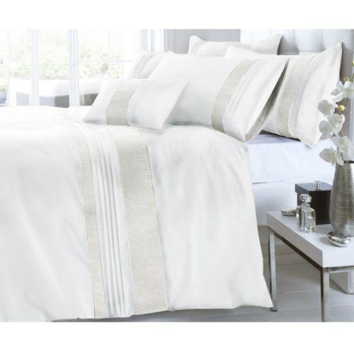 White Diamante Duvet Cover Ebay