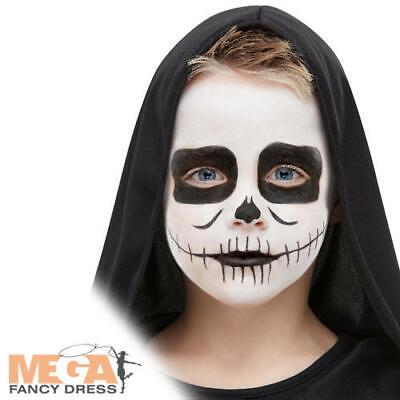 Halloween Make Up Boys (Skeleton Make-Up Kit Kids Fancy Dress Halloween Skull Boys Costume Face Paint)