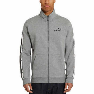 NEW Puma Men's Track Jacket GRAY SIZE SMALL FAST SHIPPING FULL ZIP NWT
