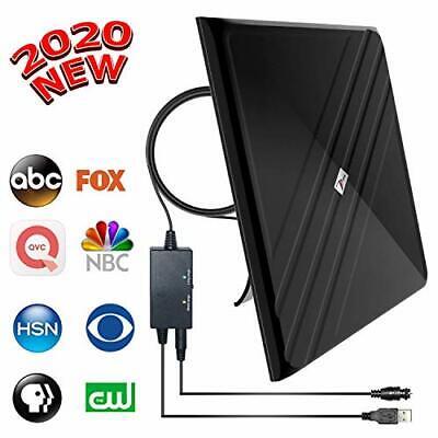 [2020 Upgraded] Amplified HD Digital TV Antenna - Best 120 Miles Range