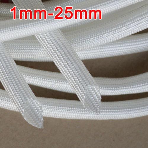 600 Deg.C Braided Fiber Glass Tube High Temperature Soft Fiber Glass Sleeving