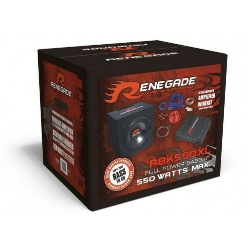 RENEGADE RBK550XL Basskit Inkl. 2 Kanal Verstärker und Subwooferbox - B-Ware