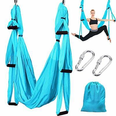 Slosy Columpio Yoga Azul Kit Meditacion Hamaca para Pilates de Tela Acrobacias