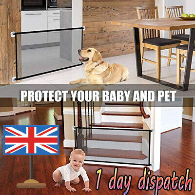 UK Pet Dog Gate Safety Guard Folding Baby Toddler Stair Gate Isolation
