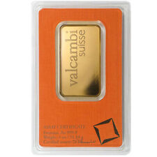 1 oz Valcambi Gold Bar (New w/ Assay)