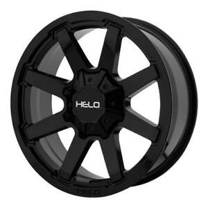 20 Wheel Set Helo Ford F250 F350 20x9 0mm 8x170mm Gloss Black Rim Wheels Roue Mag F-250 F-350 20
