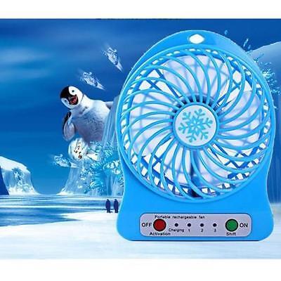 Small Portable Fan USB Battery 2 Power Supply Method 3 Speed Level Fan Cool UKs