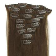 Clip in Human Hair Extensions Brown