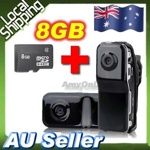Mini Portable DV DVR Camera MD80 Video Recorder Spy Cam+8GB Card Sports Bicycle
