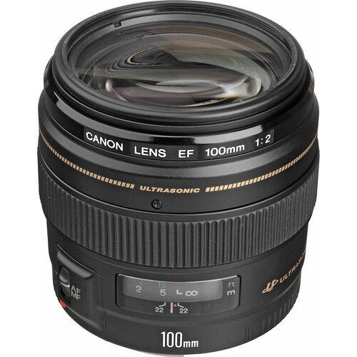 Canon EF 100mm f/2 USM Medium Telephoto Lens Black 2518A003