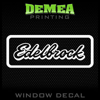 "EDELBROCK Decal Sticker 8.5/"" X 3.3/"" Toolbox Laptop Vehicle Window"
