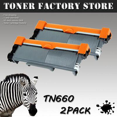 2PK TN660 Black Toner For HL-L2300D L2320D L2340DW L2360DW L2380DW MFC-L2700DW