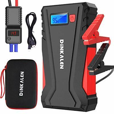 DINKALEN Avviatore Batteria Auto 800A 12800mAh Portatile Avviatore Emergenza ...
