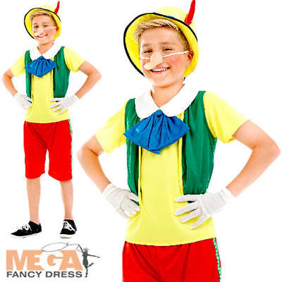 Pinocchio Fancy Dress Boys World Book Day Puppet Character Fairytale Costume New](Pinocchio Costumes)
