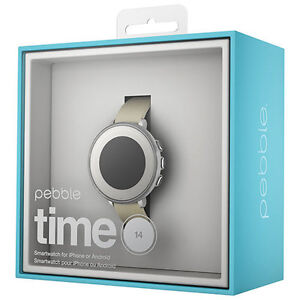 Pebble Time Round 14mm and 20mm Smartwatch BRAND NEW